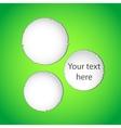 Green torn paper web design vector image