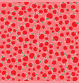 apples red seamless pattern background vector image