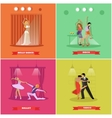 People dancing tango ballet disco and belly vector image