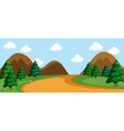a simple nature road scene vector image vector image
