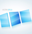 abstract 3d mirror background vector image vector image