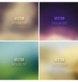 Abstract colorful blurred backgrounds set 12 vector image
