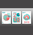 annual report 201820192020 cover brochure vector image vector image