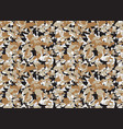 beige army camouflage pattern camo cloth vector image
