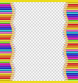 border frame made of colored wooden pencils vector image
