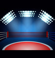 boxing ring spotlights composition vector image vector image