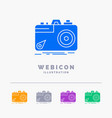 camera photography capture photo aperture 5 color vector image