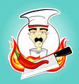 chef and pepper vector image vector image