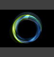 colorful blue green glowing abstract circular logo vector image vector image