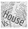 Comparing In House Work And Outsourced Work Word vector image vector image