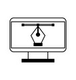 computer electronic work vector image vector image