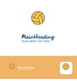 creative basketball logo design flat color logo vector image vector image