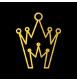 Crown Icon In Flat Style vector image vector image