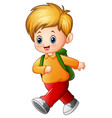 cute schoolboy cartoon vector image
