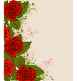 decorative background with red roses vector image vector image