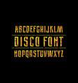 decorative sans serif font vector image vector image