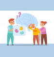 dementia man oldster brain confusion elderly vector image vector image