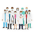 doctors nurses and paramedics icons group of vector image vector image