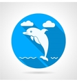 Dolphin flat icon vector image