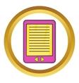 E-book icon vector image vector image