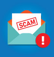 email scam icon envelope with phishing content vector image