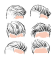 fashion set hipster man hair style set vector image vector image