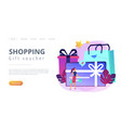 gift cardconcept landing page vector image vector image