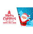 greeting card from santa claus vector image vector image