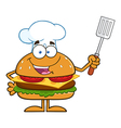 Hamburger Chef Cartoon vector image vector image