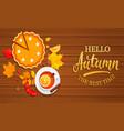 hello autumn banner vector image vector image