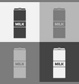 icon set a package milk vector image vector image