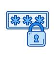 internet security line icon vector image