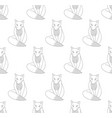 kitsune fox on white background vector image vector image