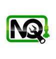 letter nq pipe repair vector image
