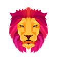 lion head low poly design creative logo elements vector image vector image
