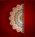 luxury mandala background vector image vector image