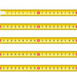 measuring tapes vector image vector image