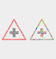medical warning triangle mosaic icon of vector image vector image