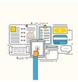 Modern flat design of business strategic