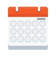 month calendar icon vector image vector image