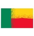 National Grunge Flag of Benin vector image vector image