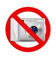No camera sign vector image