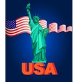 Patriotic United States of America vector image