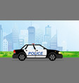 police patrol car on modern vector image vector image