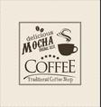 retro vintage coffee design background 0008 vector image vector image