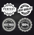 round high quality products labels set vector image vector image