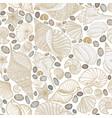 seashell seamless pattern summer holiday marine vector image vector image