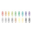set of colorful clips vector image