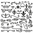 set of flourishes calligraphic elegant ornament vector image vector image