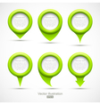Set of green circle pointers vector | Price: 1 Credit (USD $1)